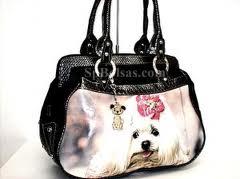 Bolsa com figuras de cachorros