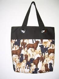 Bolsa feminina com estampa de cachorro