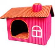 Casa rosa para cachorrinhas